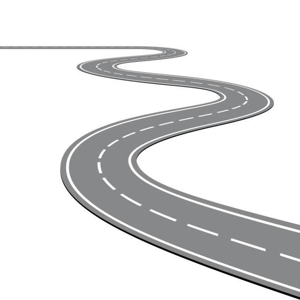 ilustraciones, imágenes clip art, dibujos animados e iconos de stock de camino de la bobina sobre fondo blanco aislado - vía