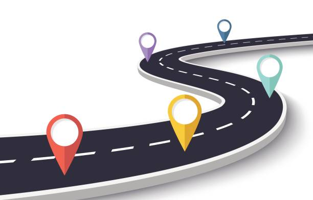 Best Road Map Illustrations, Royalty-Free Vector Graphics ...