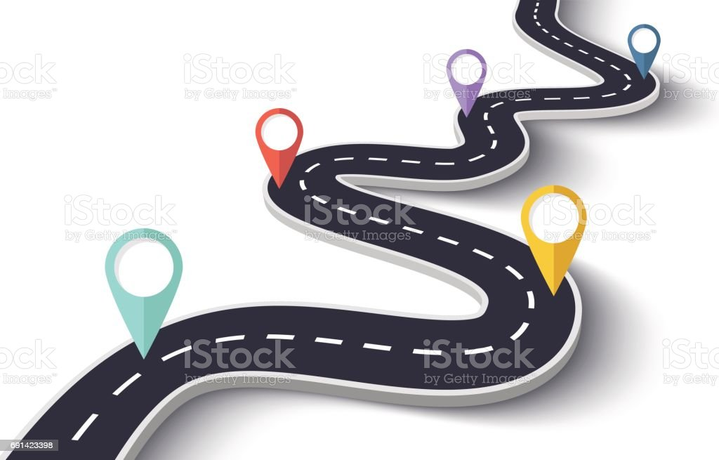 royalty free road map clip art vector images illustrations istock rh istockphoto com roadmap clipart free roadmap clipart images