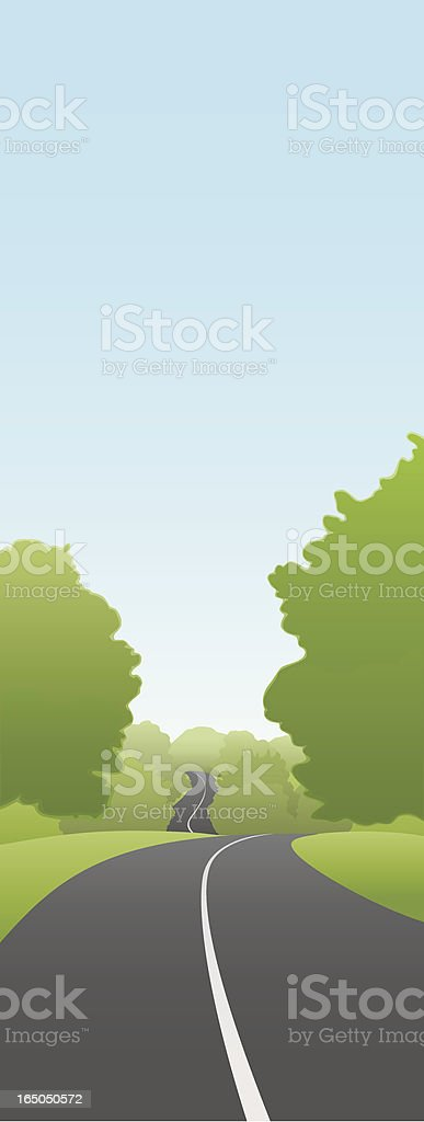 Winding Road royalty-free stock vector art