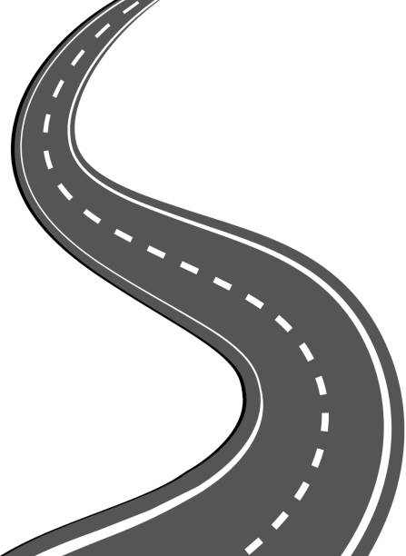 Long Road Clip Art, Vector Images & Illustrations - iStock