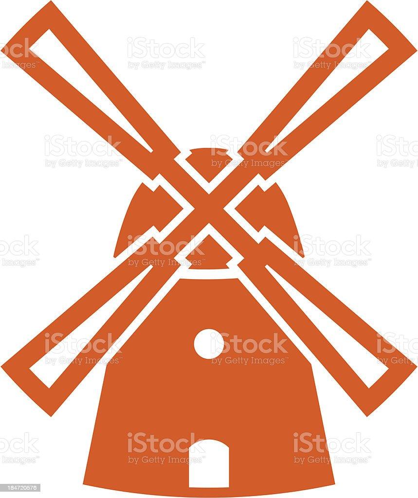 Windmill icon vector art illustration