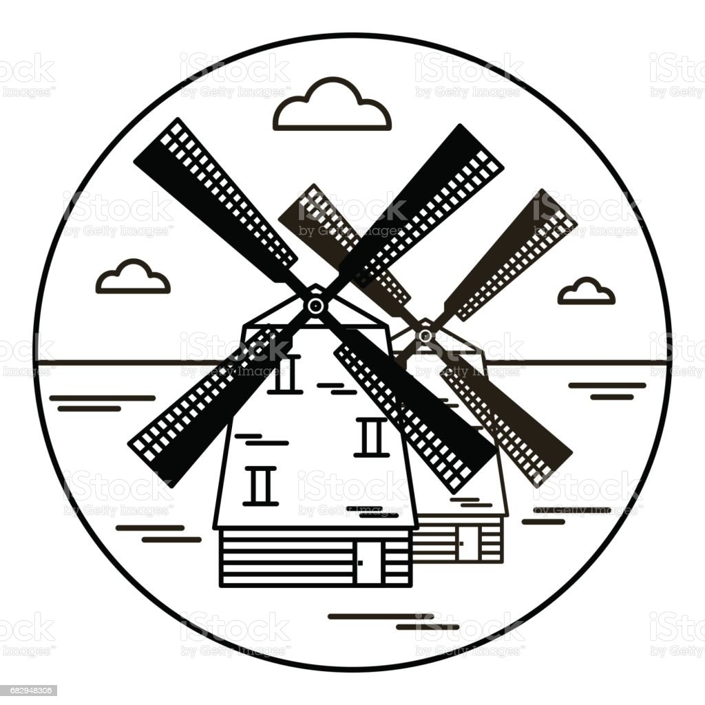 windmill, vector icon royalty-free windmill vector icon stock vector art & more images of agriculture