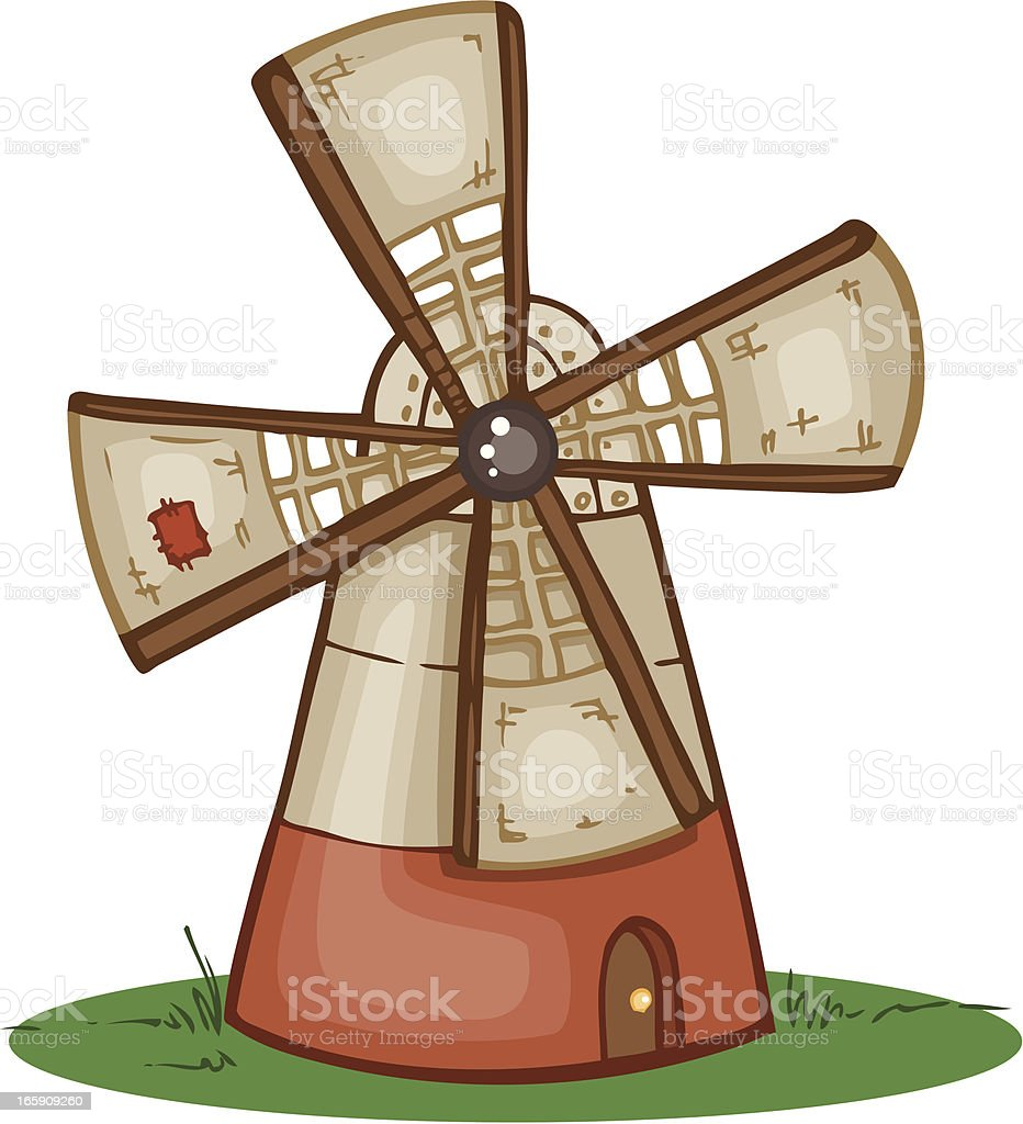 Windmill royalty-free stock vector art