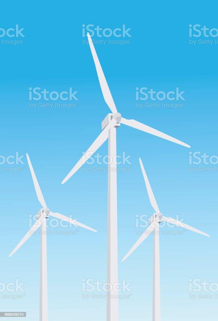 Windmill Vector vector art illustration