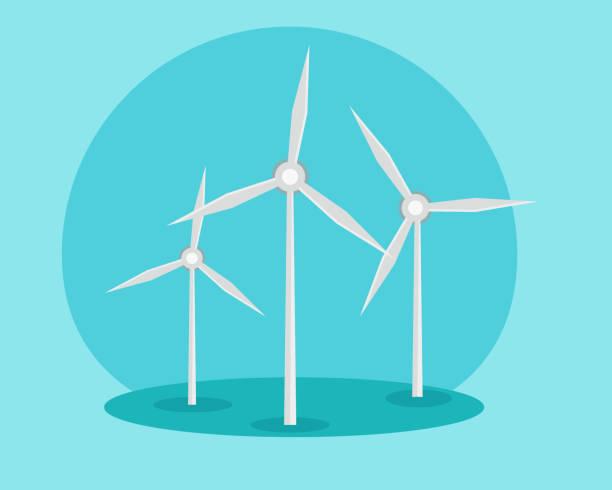 風力発電 イラスト素材 Istock