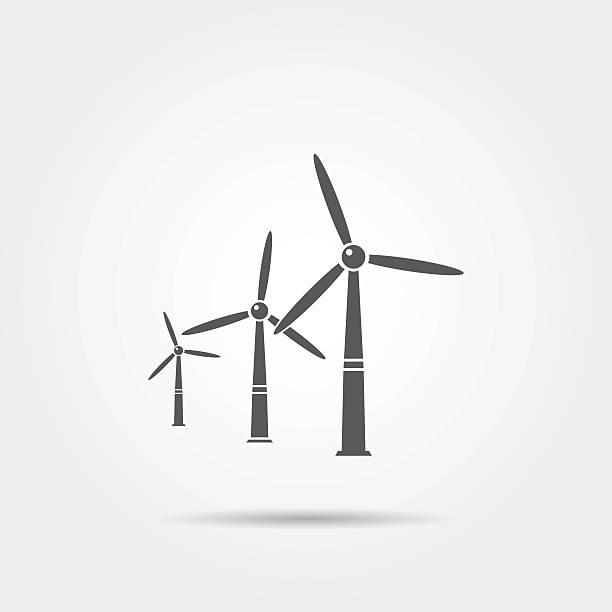 windmills icon - rüzgar değirmeni stock illustrations