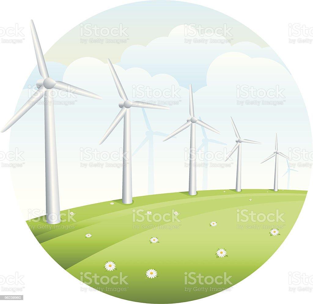 Windmills royalty-free stock vector art