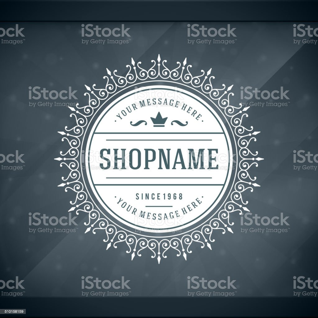 Window advertising shop decals insignia graphics vector art illustration