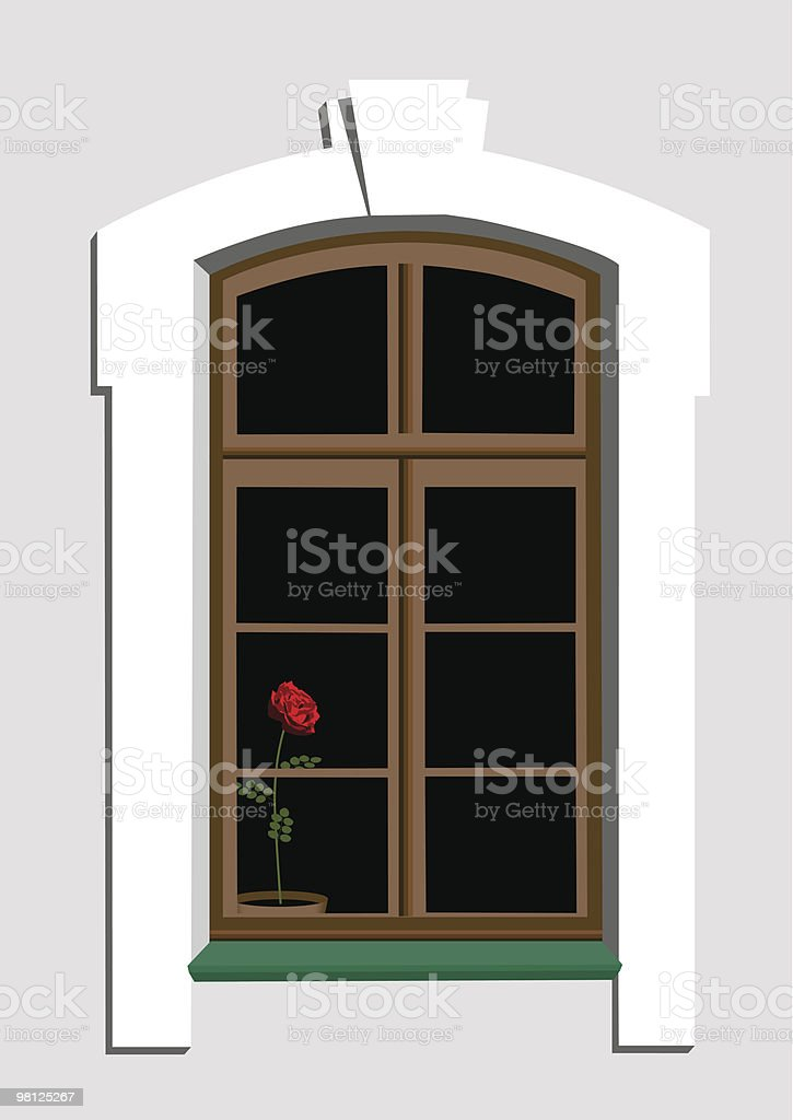 Window and rose royalty-free window and rose stock vector art & more images of color image