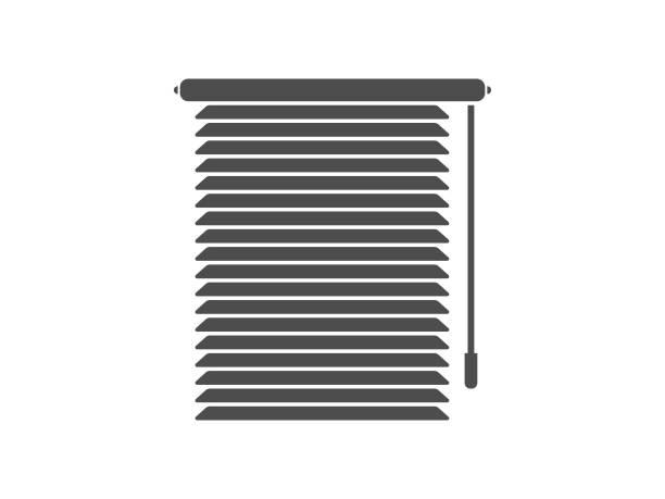 ilustrações de stock, clip art, desenhos animados e ícones de window blinds icon - com portada