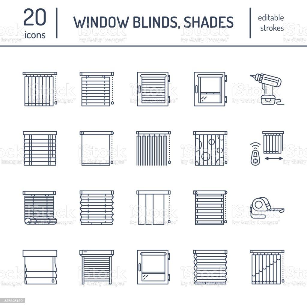 https://media.istockphoto.com/vectors/window-blinds-shades-line-icons-various-room-darkening-decoration-vector-id867503160