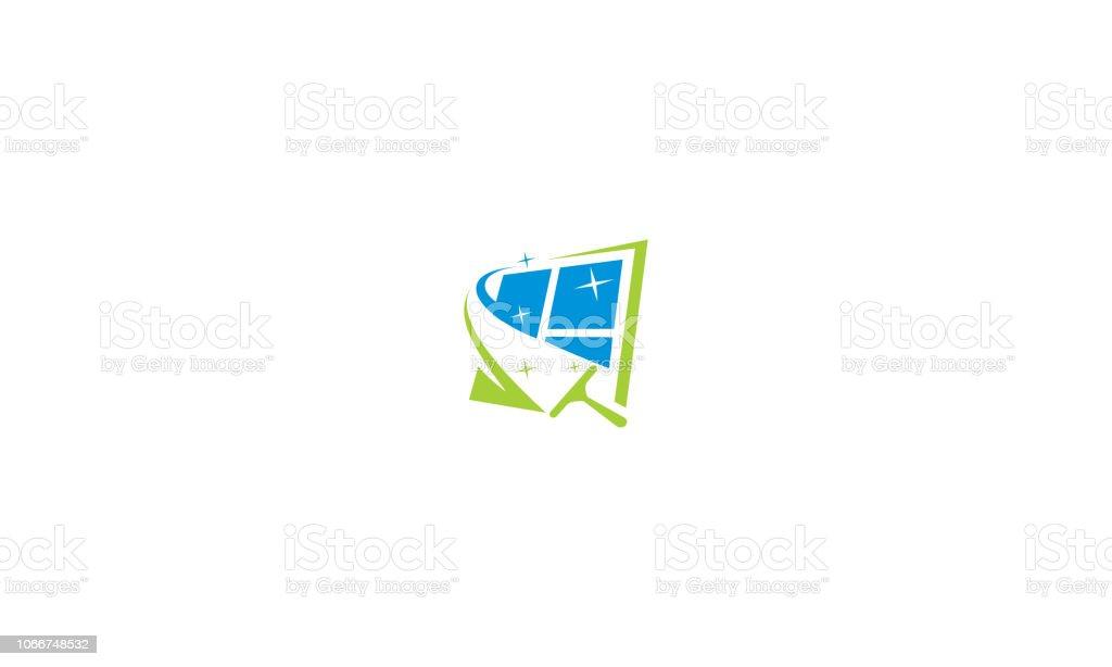 Fenster Reiniger Logo Symbol Vektor Stock Vektor Art Und Mehr Bilder