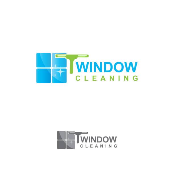 illustrations, cliparts, dessins animés et icônes de conception de nettoyage de fenêtre - raclette