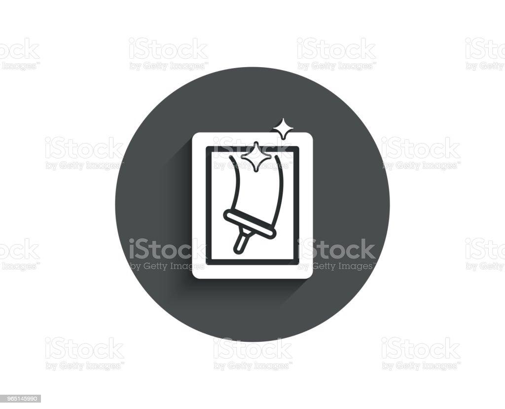 Window cleaning simple icon. Washing service. window cleaning simple icon washing service - stockowe grafiki wektorowe i więcej obrazów aplikacja mobilna royalty-free