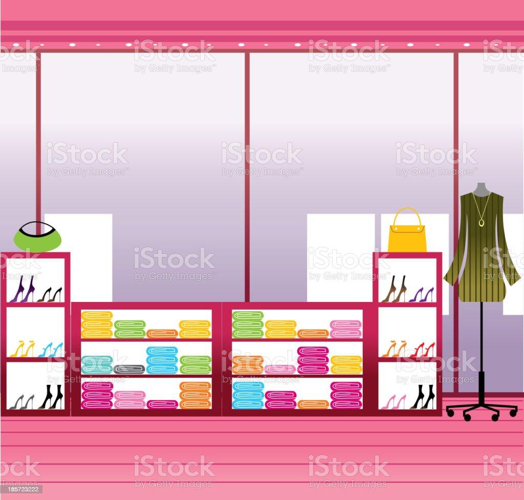 Window display in store royalty-free stock vector art