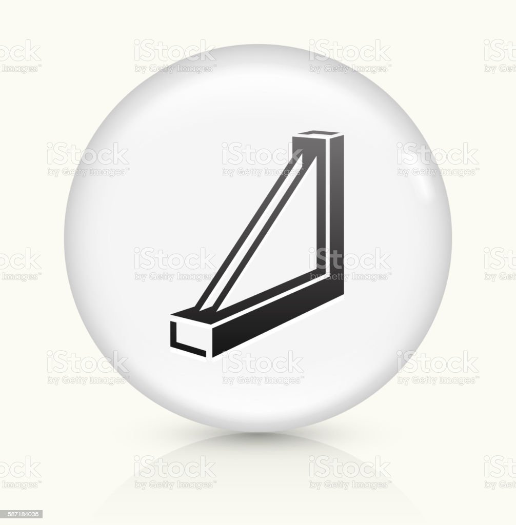Window frame icon on white round vector button vector art illustration