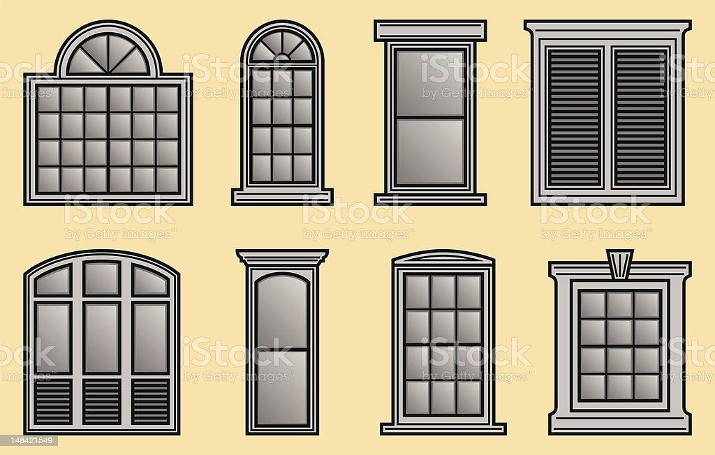 Window Frames royalty-free stock vector art