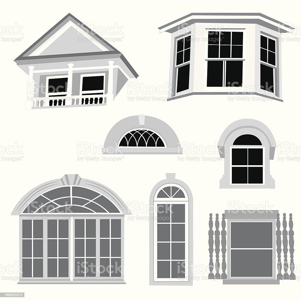 Window Frames Vector Silhouette royalty-free stock vector art