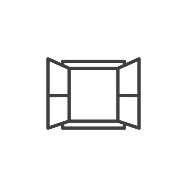 fenstersymbol - offen allgemeine beschaffenheit stock-grafiken, -clipart, -cartoons und -symbole