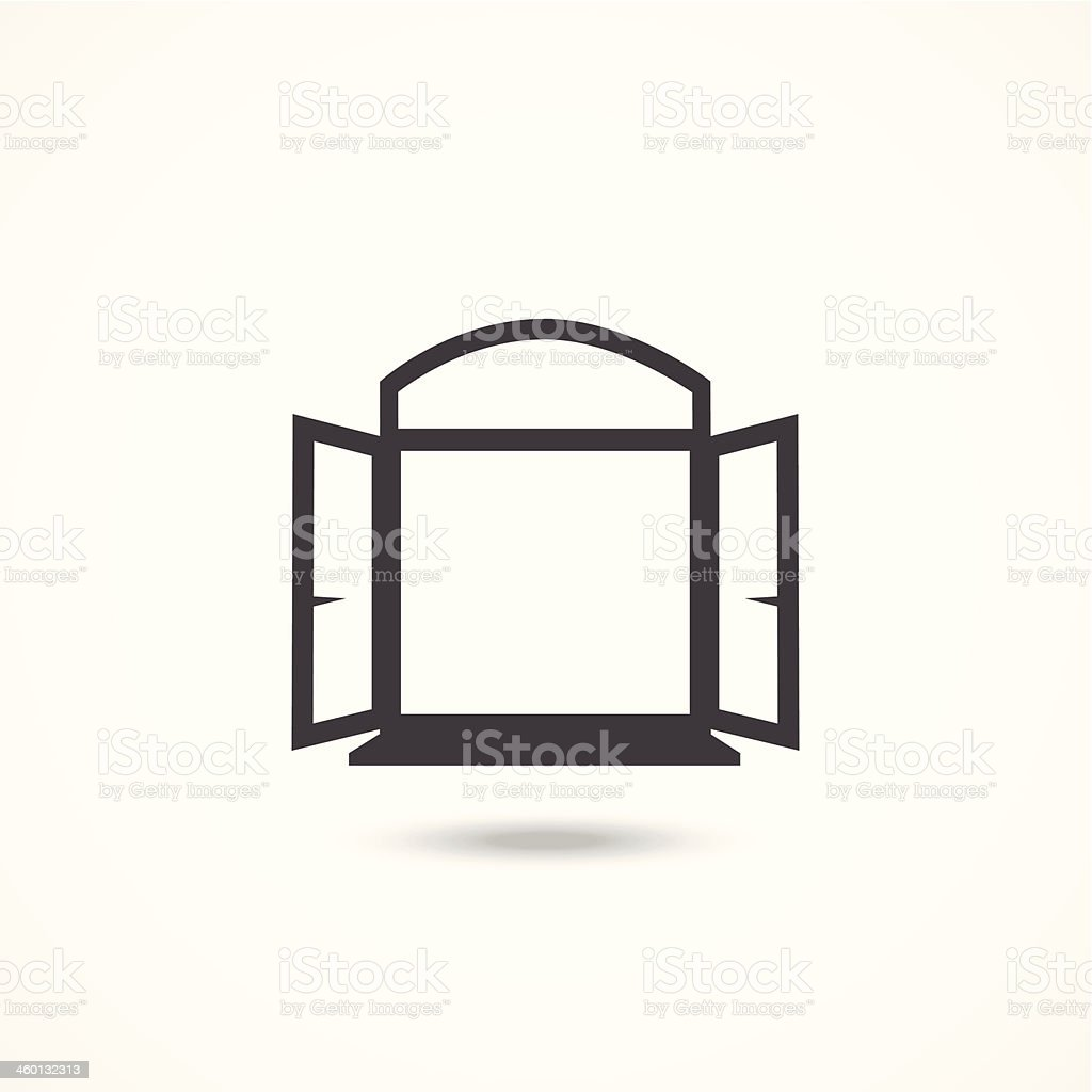 Window icon vector art illustration