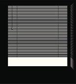 Window jalousie blinds vector.