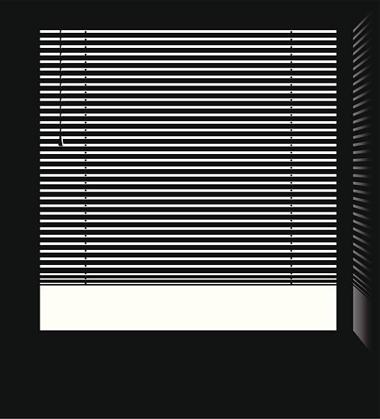 okno z żaluzjami weneckimi wektor. - store stock illustrations