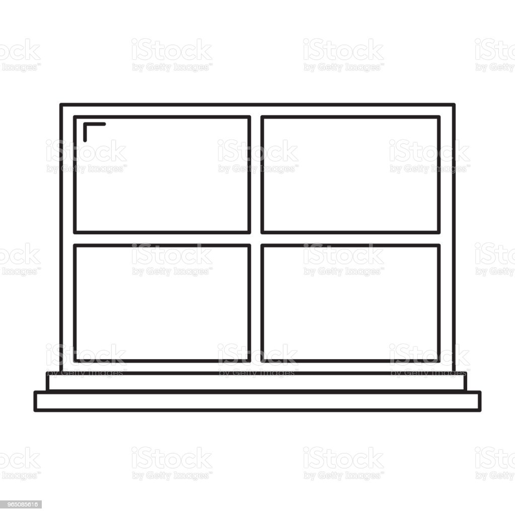 window line icon window line icon - stockowe grafiki wektorowe i więcej obrazów architektura royalty-free