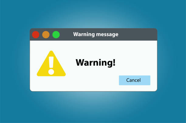 Window operating system error warning. Illustration on white isolated background Window operating system error warning. Vector illustration on white isolated background. computer virus stock illustrations