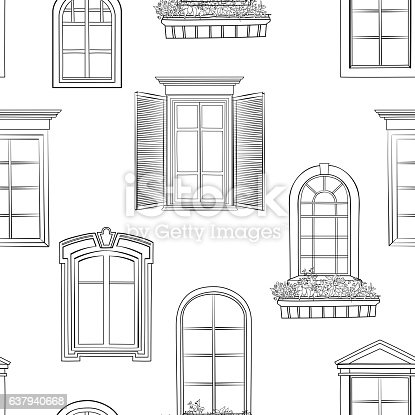 Window Pattern Different Architectural Style Of Windows