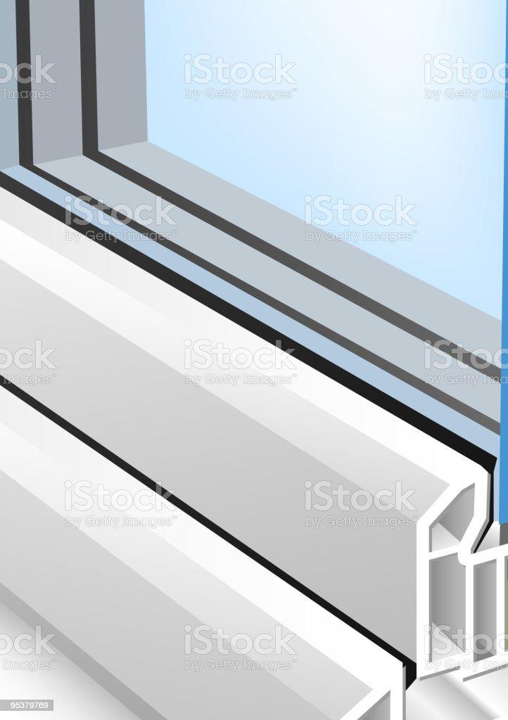 Window profile vector art illustration