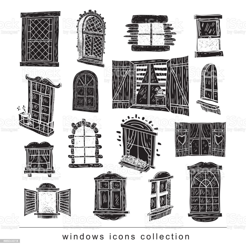 best old window illustrations  royalty-free vector graphics  u0026 clip art