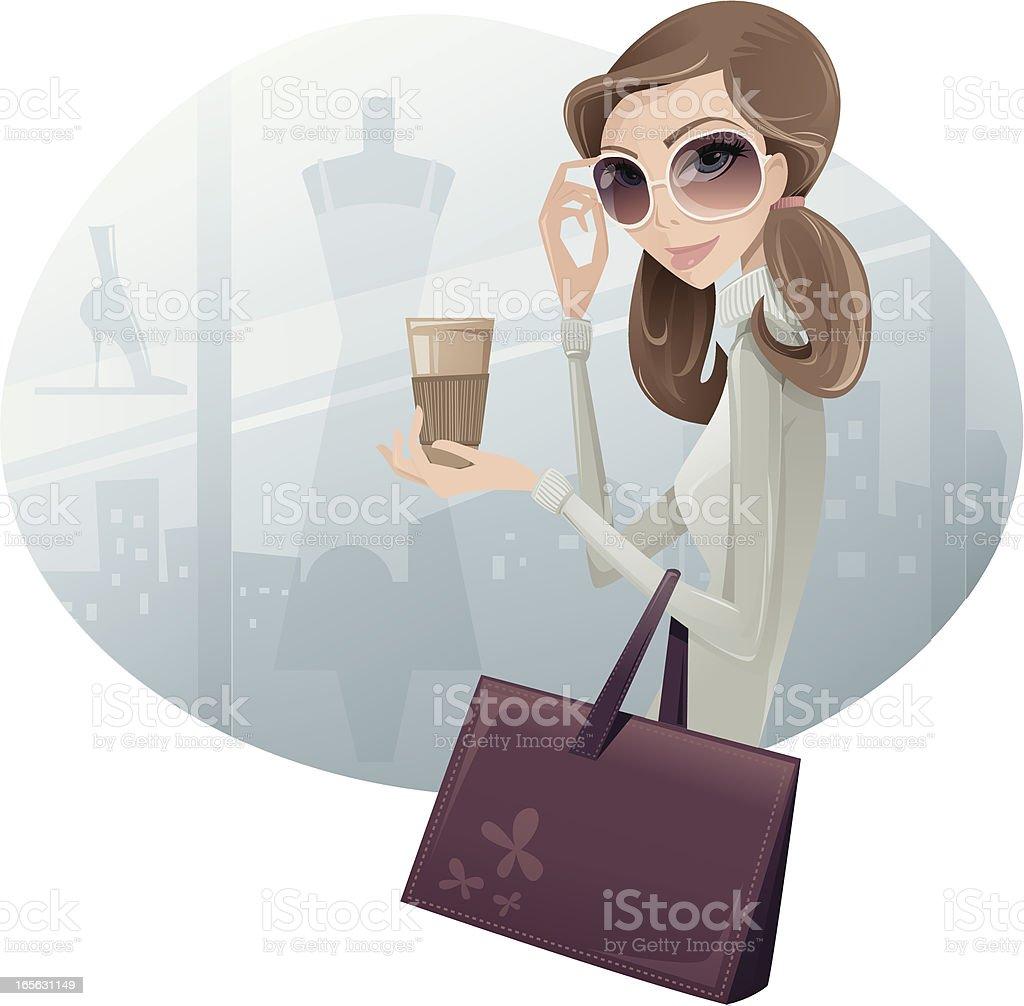 Window Shopping vector art illustration