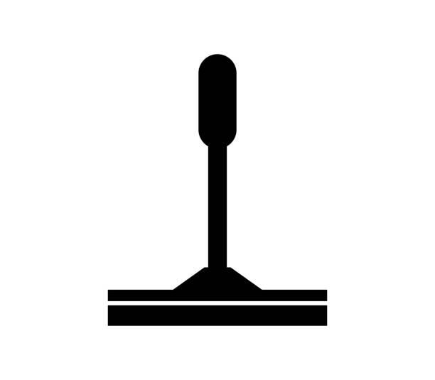 illustrations, cliparts, dessins animés et icônes de squeege fenêtre - raclette