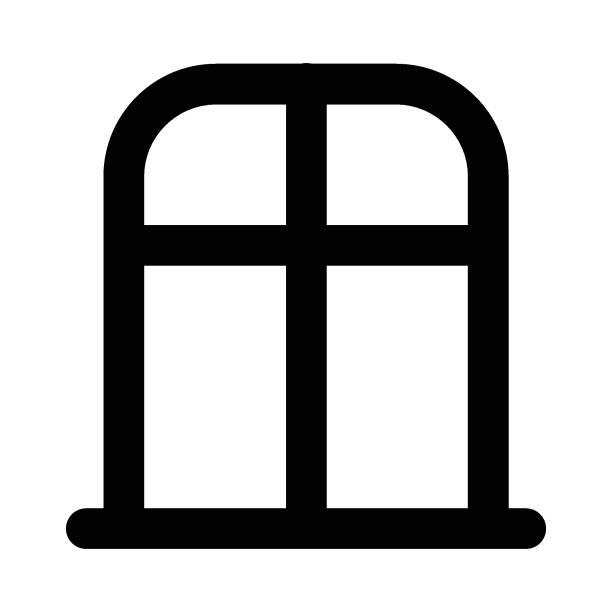 window house architecture borders stock illustrations