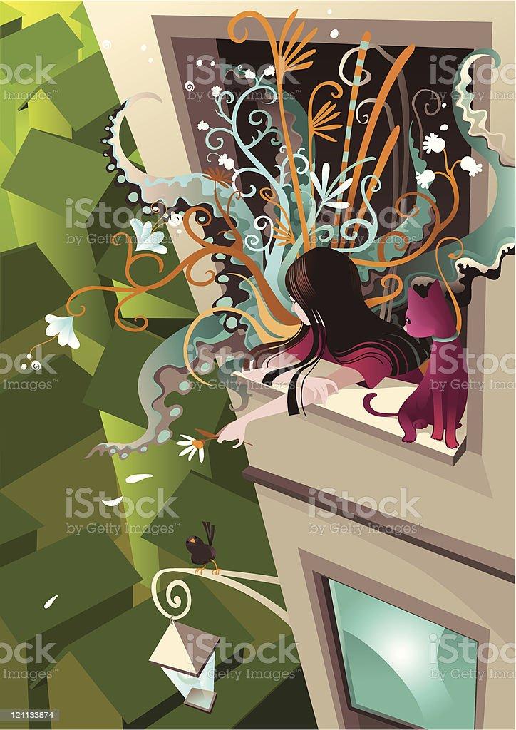 Window royalty-free stock vector art