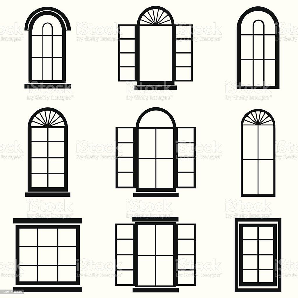 Картинки окна для домика из картона