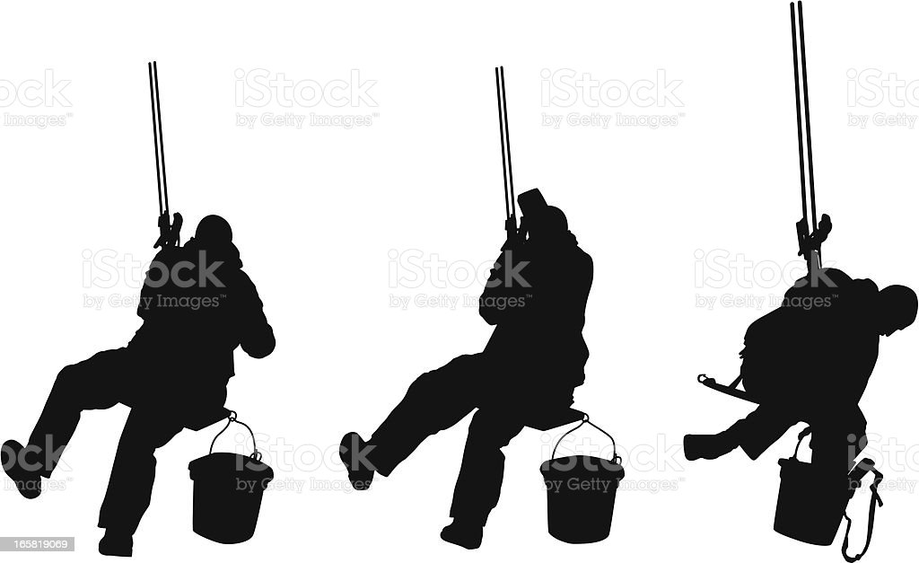 Window washer at work royalty-free window washer at work stock vector art & more images of adult