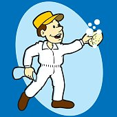 Window Washing Worker
