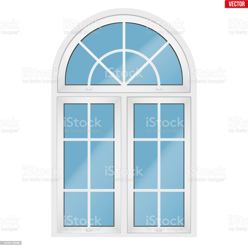 Ventanas Pvc Stock.Pvc Window With Arch Stock Illustration Download Image Now