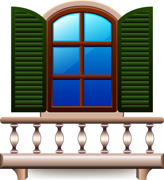 Royalty free old window frame clip art vector images