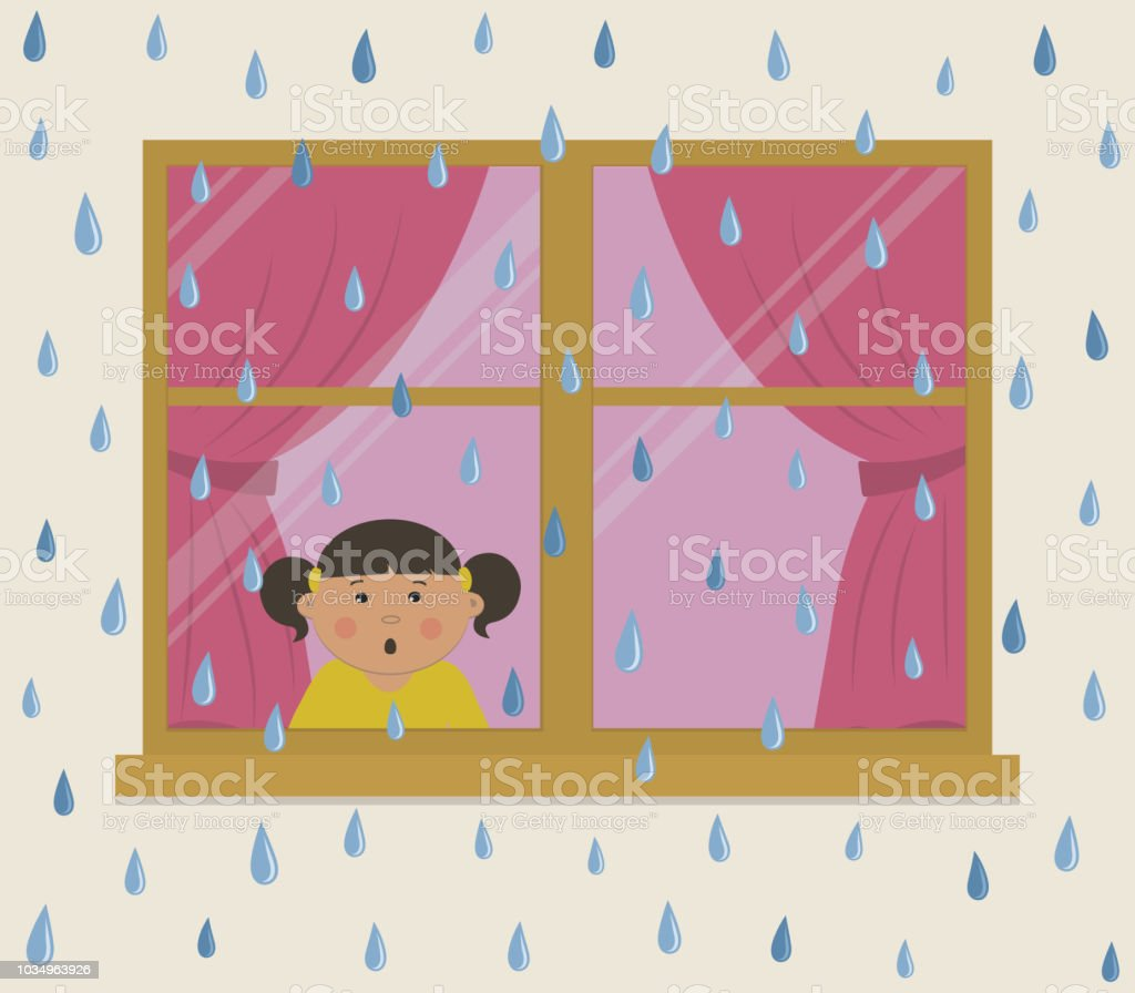 Raindrops On Window Clip Art