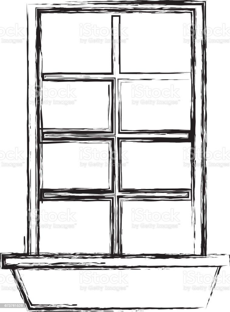icône isolé de la maison de style Windows icône isolé de la maison de style windows – cliparts vectoriels et plus d'images de affaires finance et industrie libre de droits
