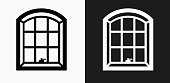 Windows Icon on Black and White Vector Backgrounds. This vector illustration includes two variations of the icon one in black on a light background on the left and another version in white on a dark background positioned on the right. The vector icon is simple yet elegant and can be used in a variety of ways including website or mobile application icon. This royalty free image is 100% vector based and all design elements can be scaled to any size.