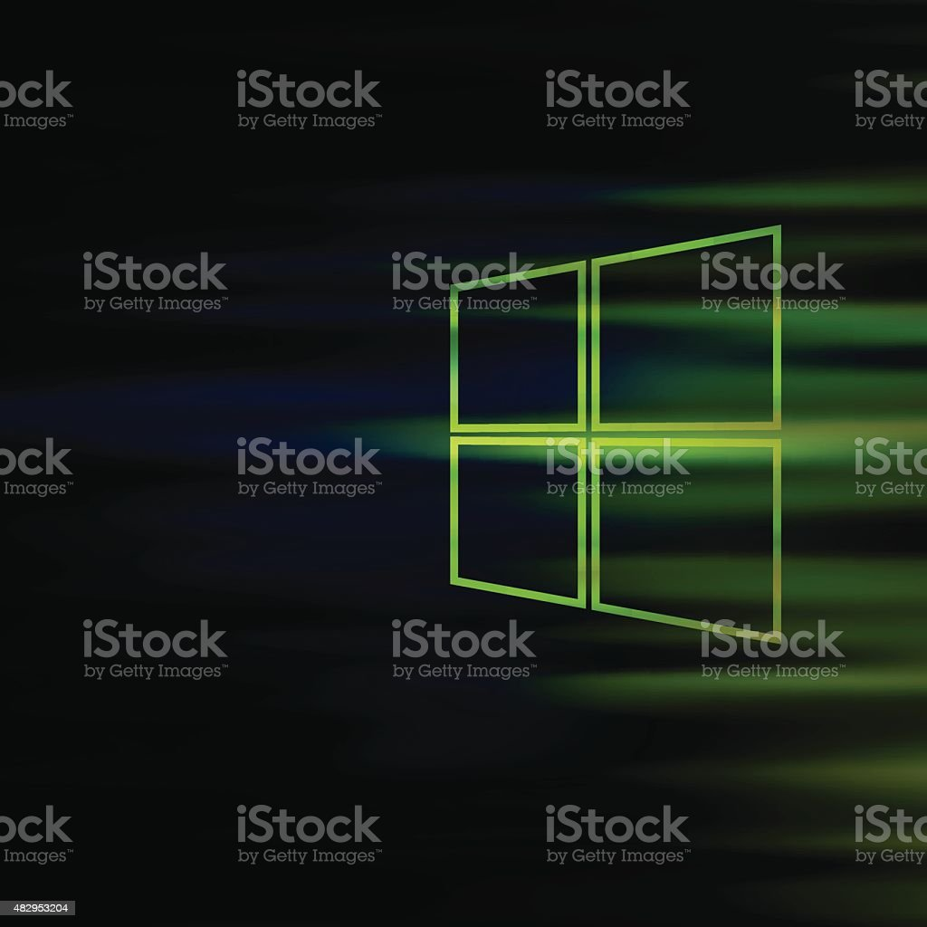 Windows Style Technology Background Stock Vector Art & More