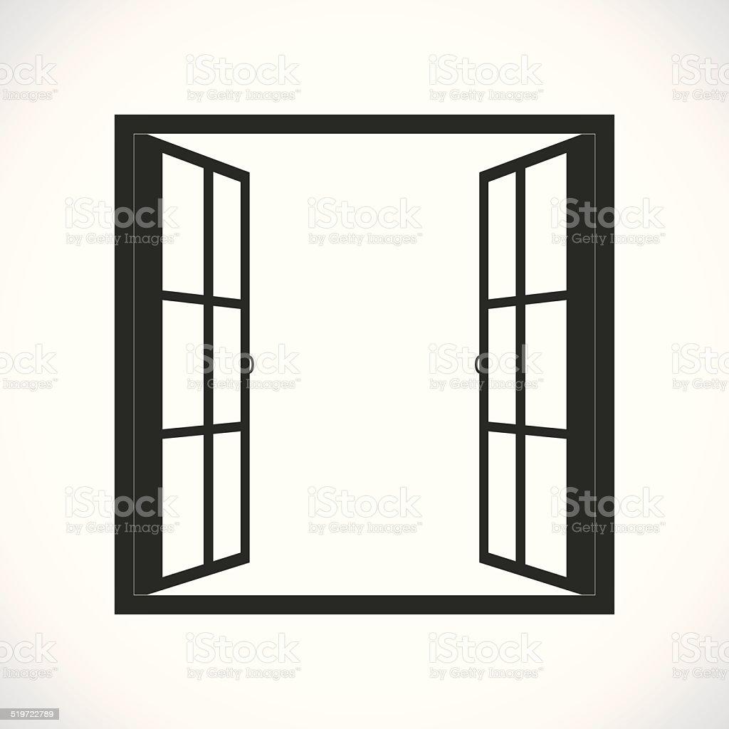 Open Window Clipart Clipart Suggest: 窓 イラスト素材