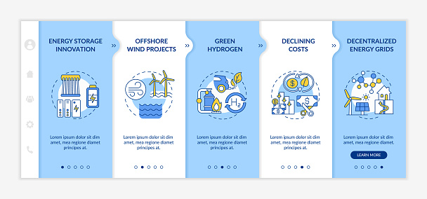 Wind-power turbines vector infographic template
