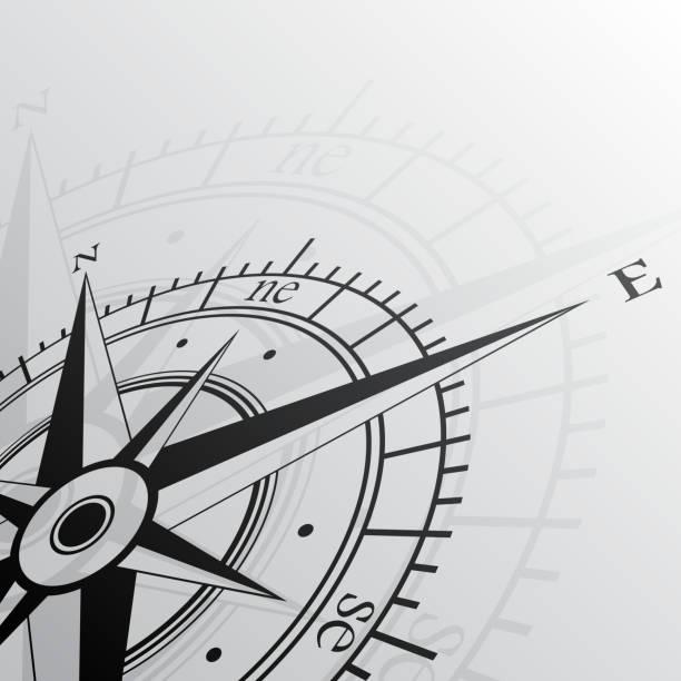 Windrose Hintergrund – Vektorgrafik