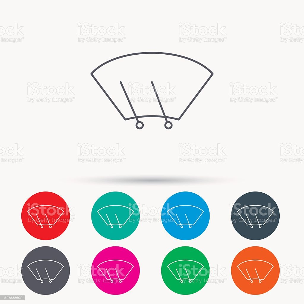 Windscreen wipers icon. Windshield sign. vector art illustration