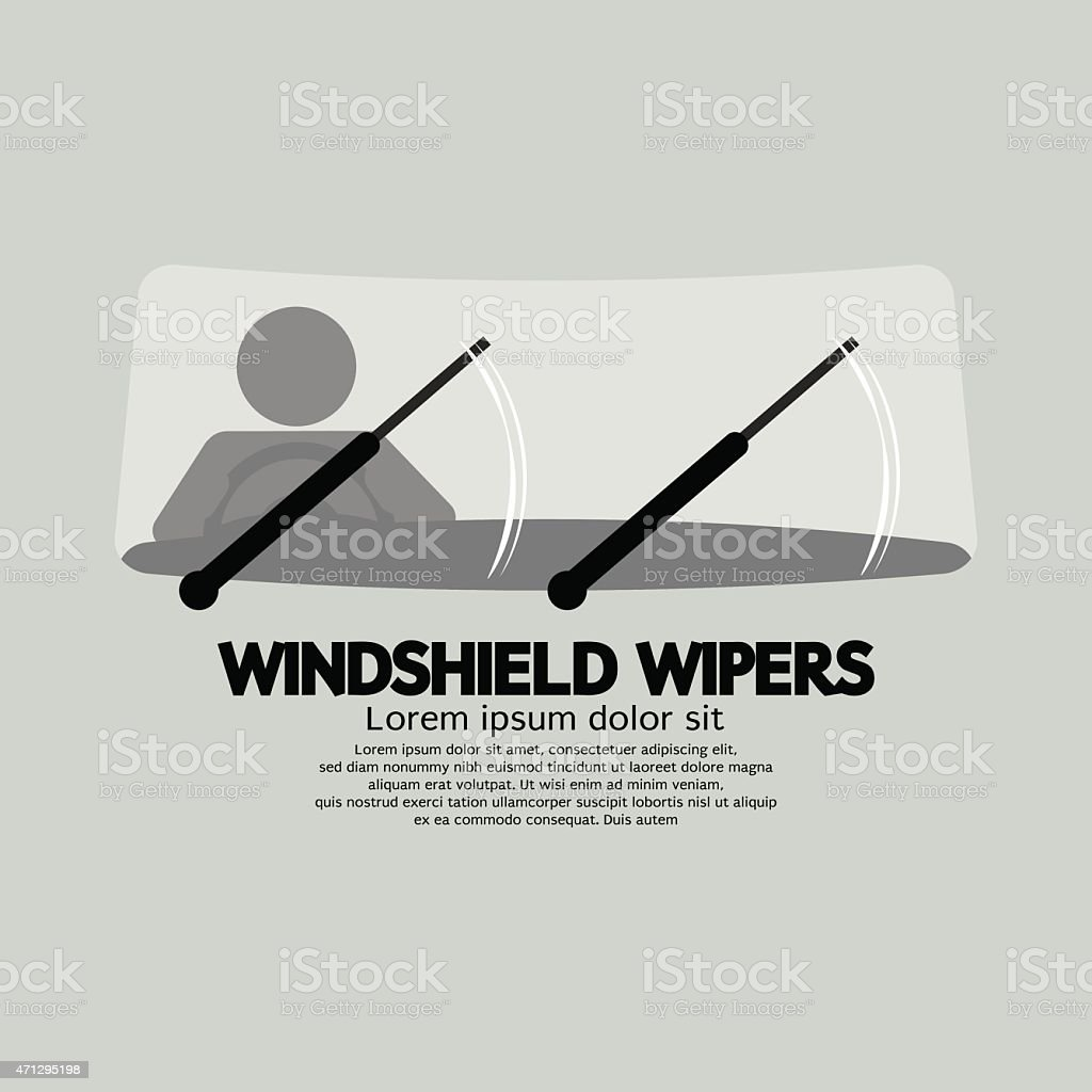 Windshield Wipers Car's Parts vector art illustration